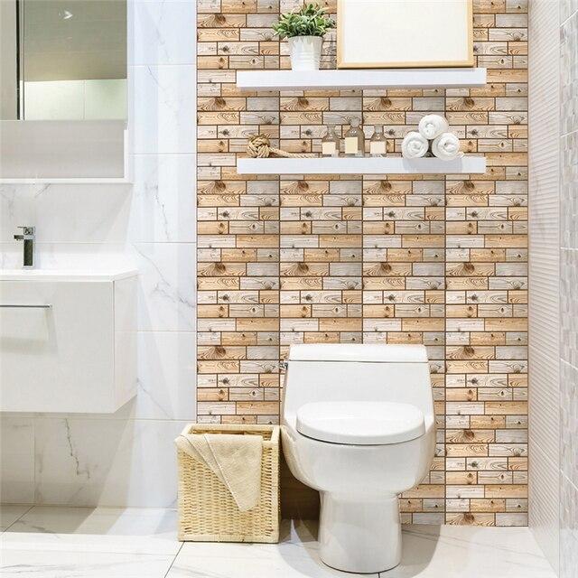 Wooden Self Adhesive Wallsticke Pvc Foam Wall Panels The Living Room Brick R Stickie