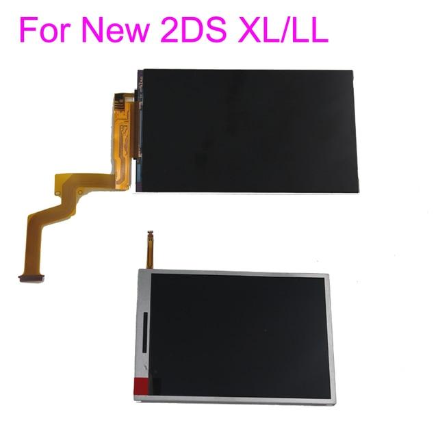 Nouvel écran d'affichage à cristaux liquides inférieur inférieur supérieur inférieur de remplacement pour le nouveau panneau d'affichage de pièces de réparation de 2DS XL LL