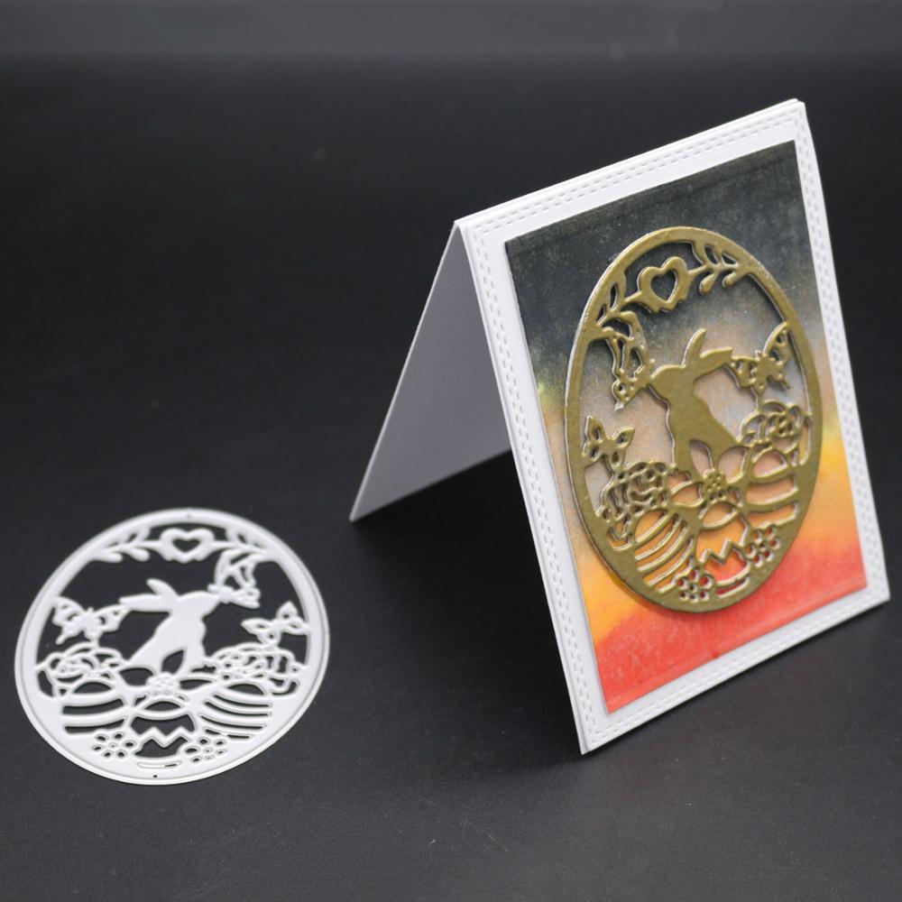 AZSG Moon Rabbit Cutting Dies For DIY Scrapbooking Card Making Decorative Metal Die Cutter Decoration