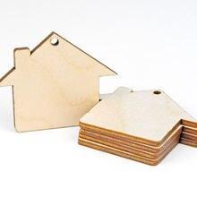 Набор из 50 предметов деревянный дом «сделай сам» необработанные