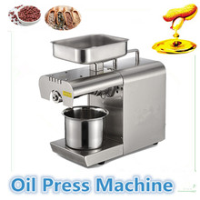 Hot Cold Stainless Steel Home Mini Oil Press Machine