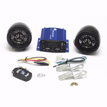 Motorcycle Anti-Theft Speakers USB Audio System Stereo MP3 ATV Chopper  Bobber Cruiser Cafe Racer Old School