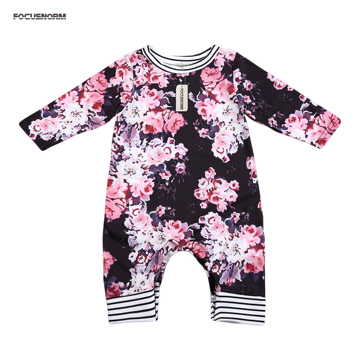 Retro Floral Romper Floral Playsuit Newborn Infant Baby Girl Jumpsuit Outfit