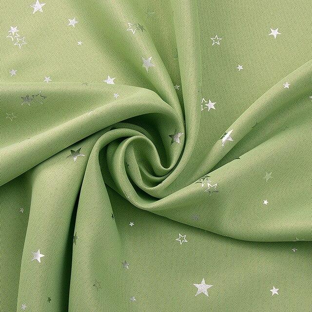 Rideaux occultants étoile pastorale | Pour chambre à coucher, rideau de fenêtre pour salon, voile épais à ombrage complet