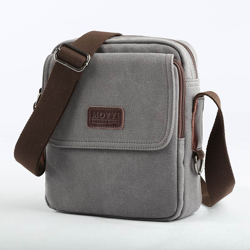 86b51a63197f MOYYI New Arrive Men Canvas Bag Vintage Messenger Bag Brand Business Casual  Travel Shoulder Bag Laptop Bag Male Bolsa -in Crossbody Bags from Luggage    Bags ...