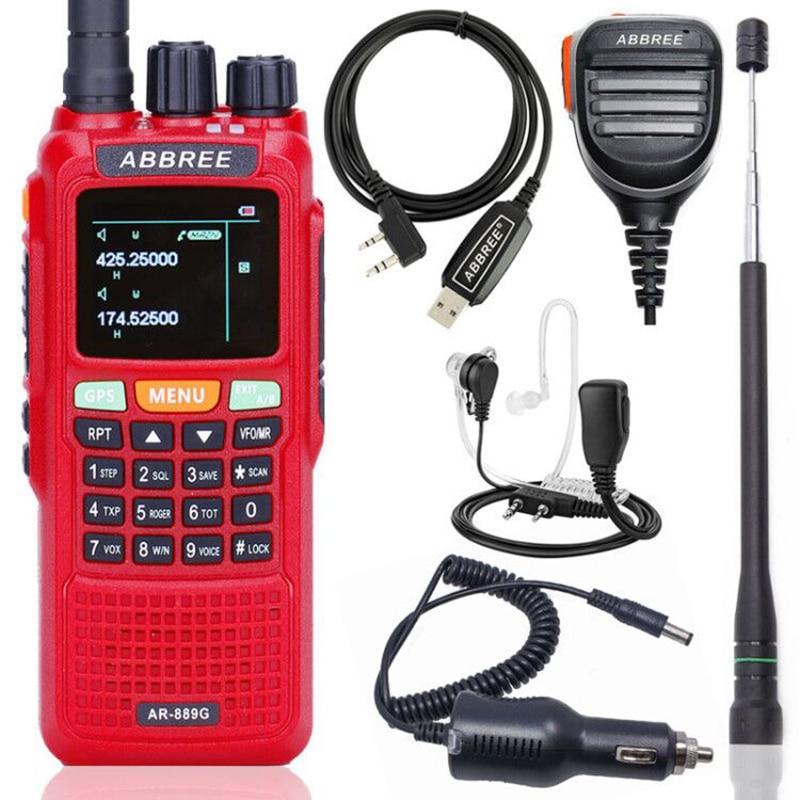 Abbree AR 889G Walkie Talkie GPS SOS 10W 999CH Night Backlight Duplex Repeater Dual Cross Band