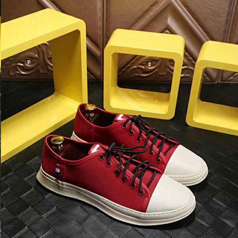 2019 nuovi Uomini di modo Vulcanize Scarpe casuali del cuoio genuino della mucca classico nero bianco scarpe uomo piattaforma scarpe per gli uomini size 38 45 - 4