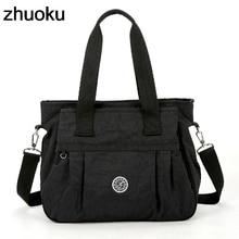 Womens Nylon Handbag New Shoulder Bag Casual Crossbody Bag Brief All match Fashion Leisure Tote Large Travel Messenger Bag