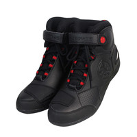 Scoyco BT009 Automobile Racing Shoes Off-road Motorcycle Boots Professional Moto Black Botas Speed Sports Boot Motocross Black