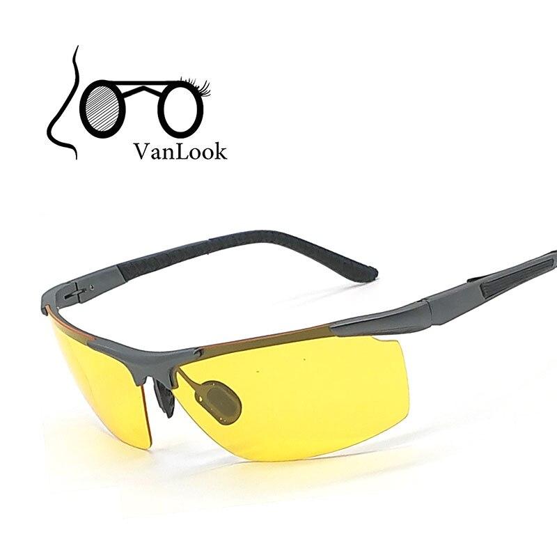 Amarillas Gafas De La Aluminio Sol Conducción Nocturna Aleación Polaroid En Magnesio KTcFJ3l1