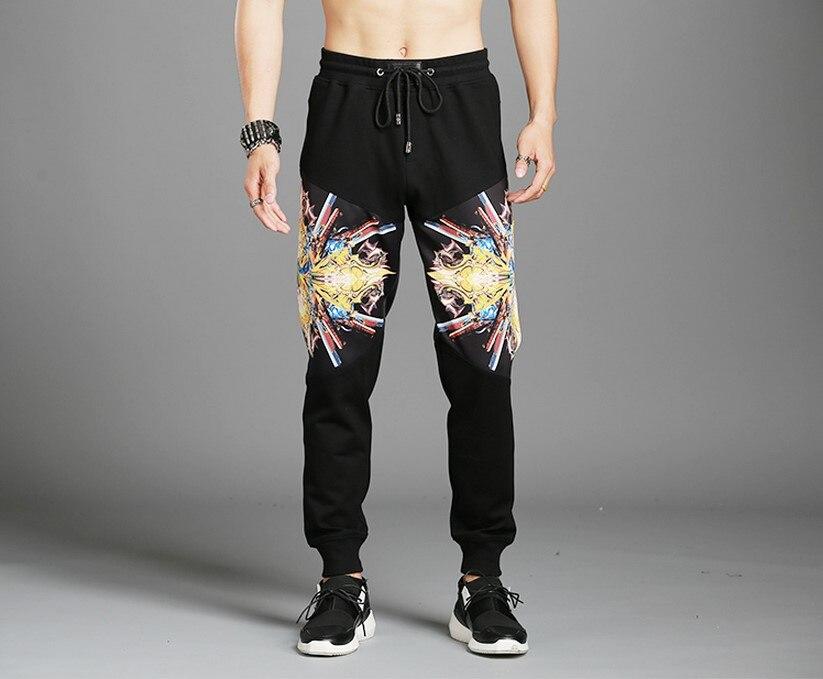 Новая мода супертяжелом теплые зимние Брюки для девочек Для мужчин 100% хлопок осень брендовая одежда Треники для Для мужчин ...