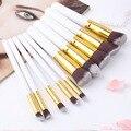 10 Pcs Profissional Maquiagem Pincel Define Macio Cabelo Sintético Escovas de Cosméticos Ferramentas Kit de Venda Quente