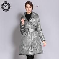 Coutudi 2018新しい女性のコートダウンフグジャケットビッグサイズ冬スリムジャケット固体カーキロング女
