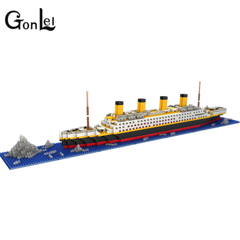 GonLeI LOZ The Titanic DIY Assemble Building Blocks Model Classical Toys Gift for Children