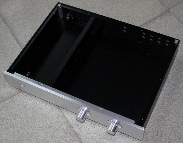 Full Aluminum Amplifier Chassis Amp Enclosure Preamp Box 425*70*313mm