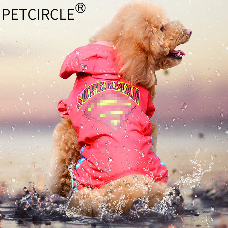 Petcircle Free Shipping Hot Sale Dog Raincoat Clothing High Quality New Fashion Waterproof Breathable 2 Color Dog Clothes 2018