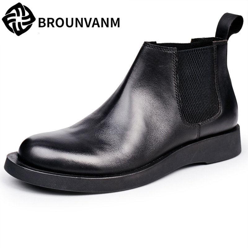 Sleeves high shoes Martin boots, British leather, round head boots, fashion shoes, men shoes, Chelsea boots 2017 new autumn winter british retro men shoes zipper leather breathable sneaker fashion boots men casual shoes handmade
