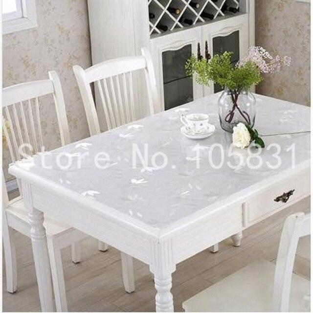 PVC morbido vetro bianco impermeabile tavolo da pranzo Moda panno e ...