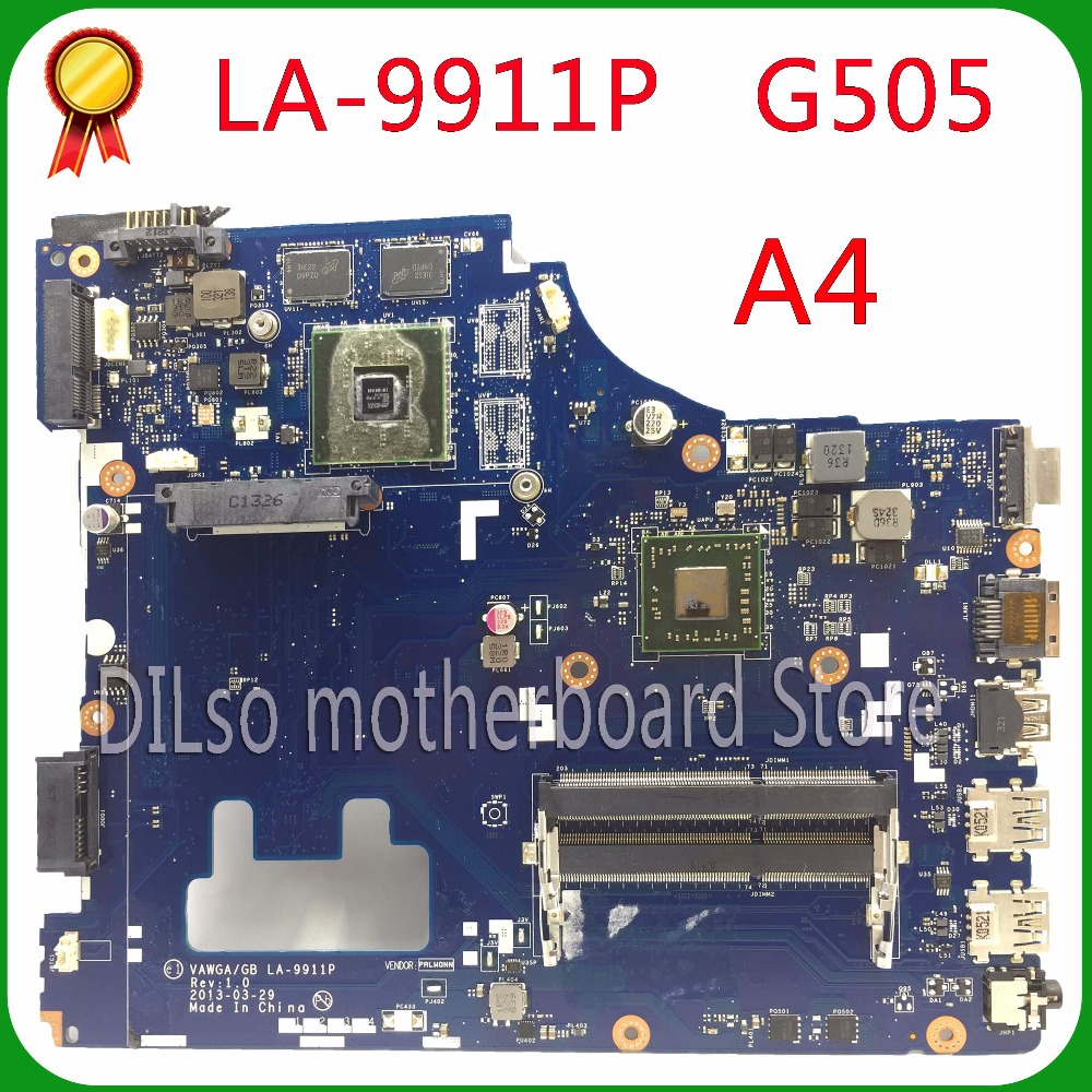 KEFU G505 VAWGA/GB LA-9911P motherboard for lenovo g505 motherboard A4 CPU la-9911p motherboard rev:1.0 with CPU 100% tested ipc motherboard sbc81206 rev a3 rc 100