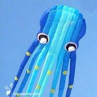 23 м 3D Осьминог Кайт Для взрослых синий трубчатой парафил кайт Летающий Спорт на открытом воздухе весело
