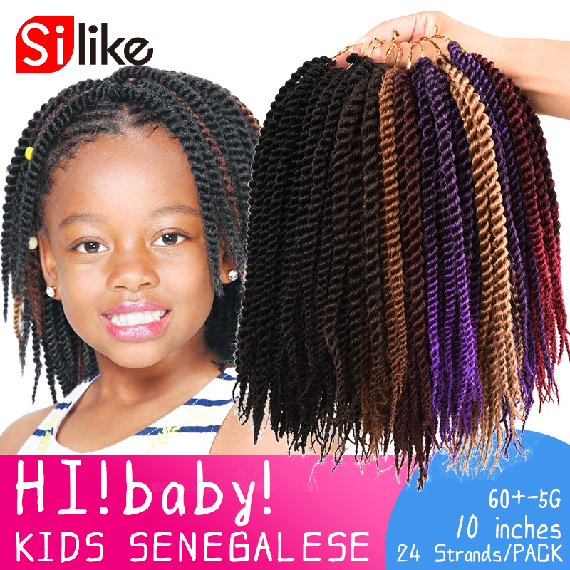 Silike 24rootspack Ombre Micro Crochet Senegalese Twist Braiding