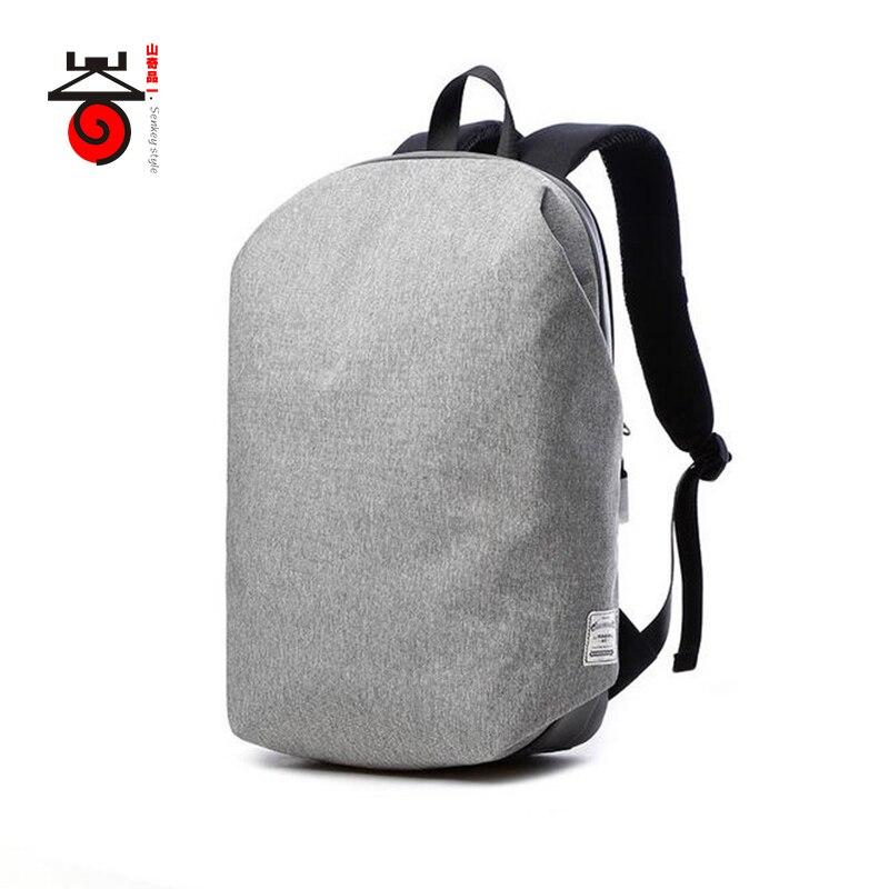 Senkey-stil 15,6 tums bärbar dator kanfas mäns ryggsäck Mochila - Ryggsäckar