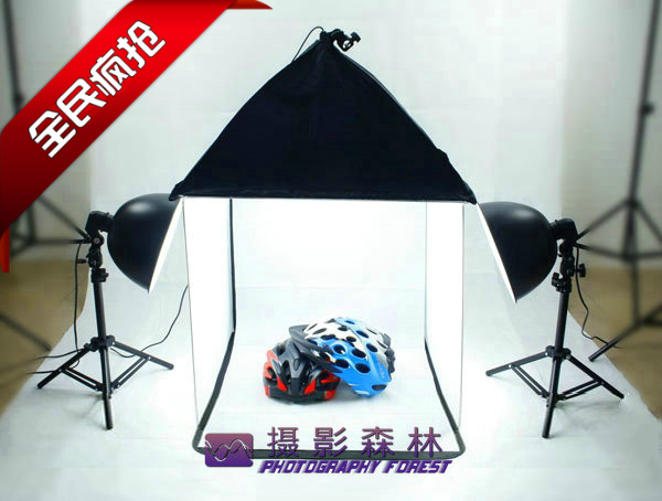 light tent kit studio box set softbox 50cm photography light 4 color background font b PHOTO