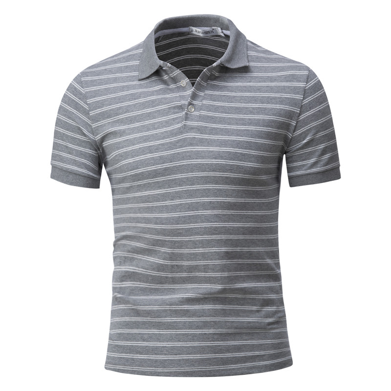 Dropping   Polo   Men Stripe Slim Fit Short Sleeve   Polos   Turn-down Collar Casual Father's Clothes Cotton Male   Polo