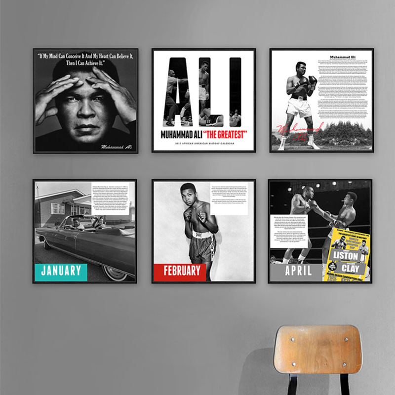 Muhammad Ali Boxing Belt Commemorative 24 x 36 Portrait Poster New