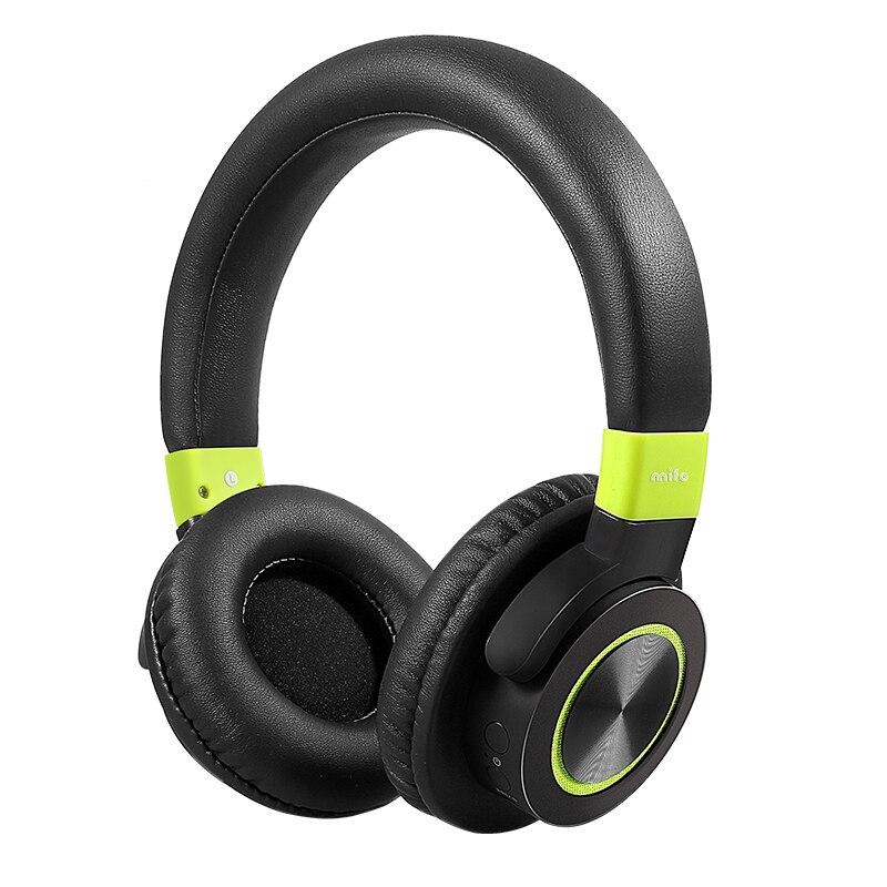 mifo F2 Wireless Bluetooth Headphones 1050mah Stereo Bass Headphone Bluetooth 4.1 Headset With Mic for iphone Samsung Huawei зарядное устройство duracell cef14 аккумуляторы 2 х aa2500 mah 2 х aaa850 mah