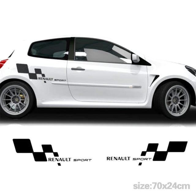 Automobile 2pcs For Renault Sports Full Kit Side Racing Stripes Decal Graphics Car Cup Stickers Car Styling Da-g5786 Finely Processed Car Stickers Exterior Accessories