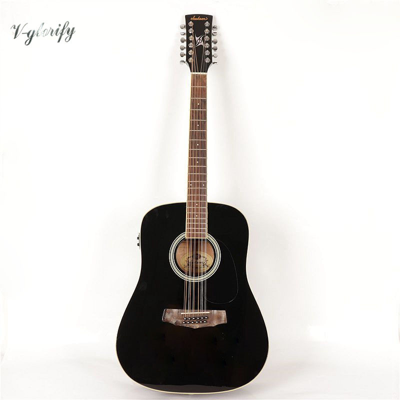 high quality 12 string acoustic electric guitar in guitar from sports entertainment on. Black Bedroom Furniture Sets. Home Design Ideas