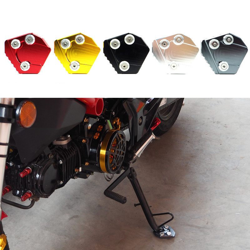 Motorcycle side stand tripod foot extension pad supporting plate For Yamaha honda kawasaki suzuki harley KTM for harley yamaha kawasaki honda 1 pair universal motorcycle saddle bags pu leather bag side outdoor tool bags storage undefined