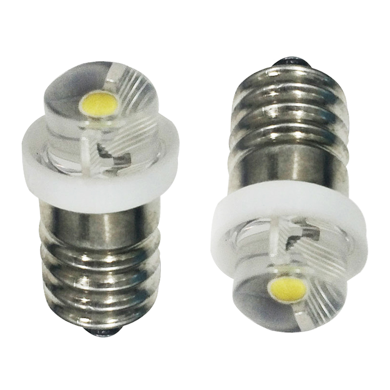 E10 0.5W 1W LED For Focus Flashlight Replacement Bulb Torches Work ...
