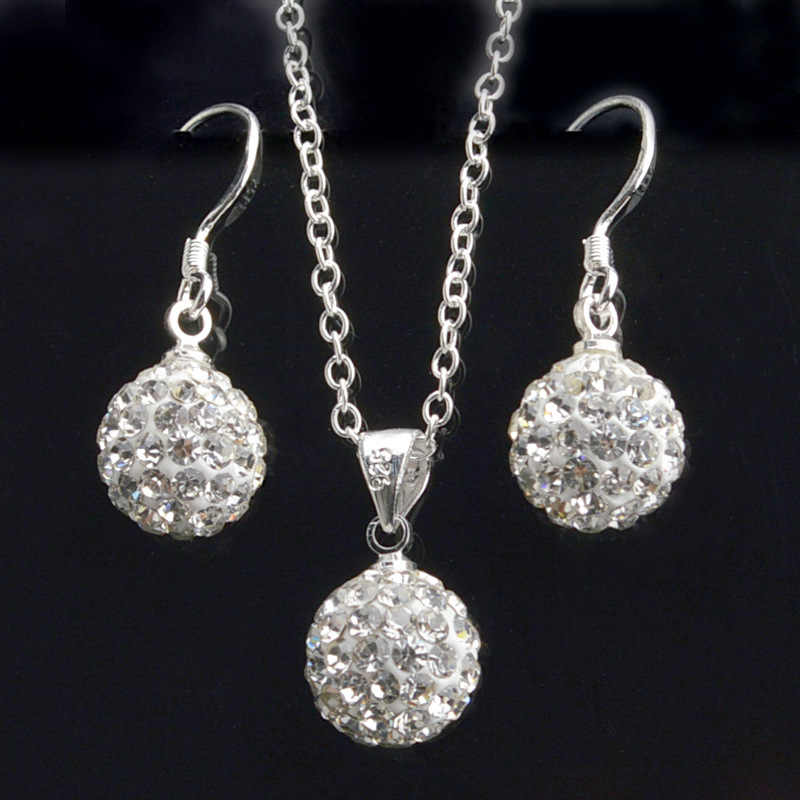 Earrings Brincos Earing Online Shopping India Pendientes Mujer For Women Brinco necklace set Crystal Stud orbellen Earring