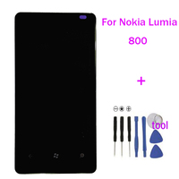 APS Original Replacement For Nokia Lumia 800 LCD Display Touch Digitizer Screen Assembly With Frame