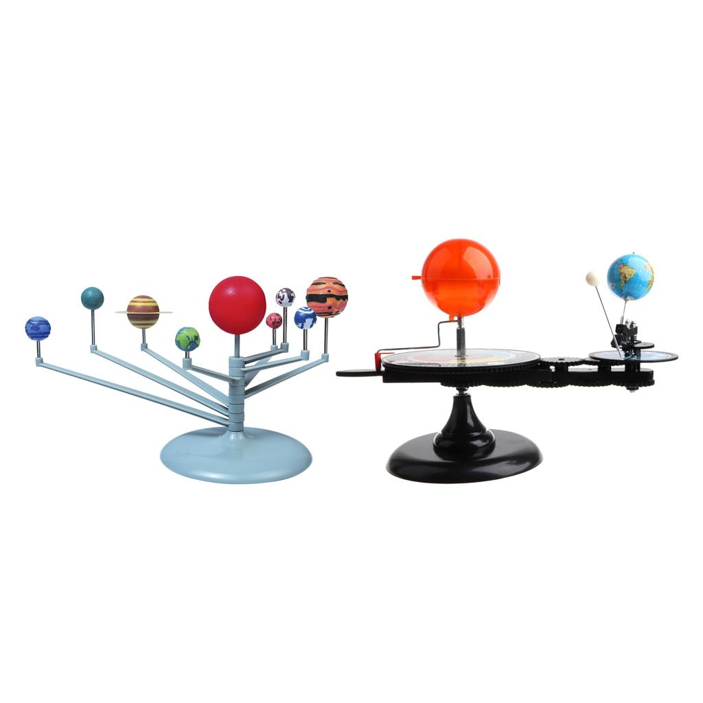 Planétarium système solaire 8-planète et soleil terre lune orbitale modèle Kit scientifique