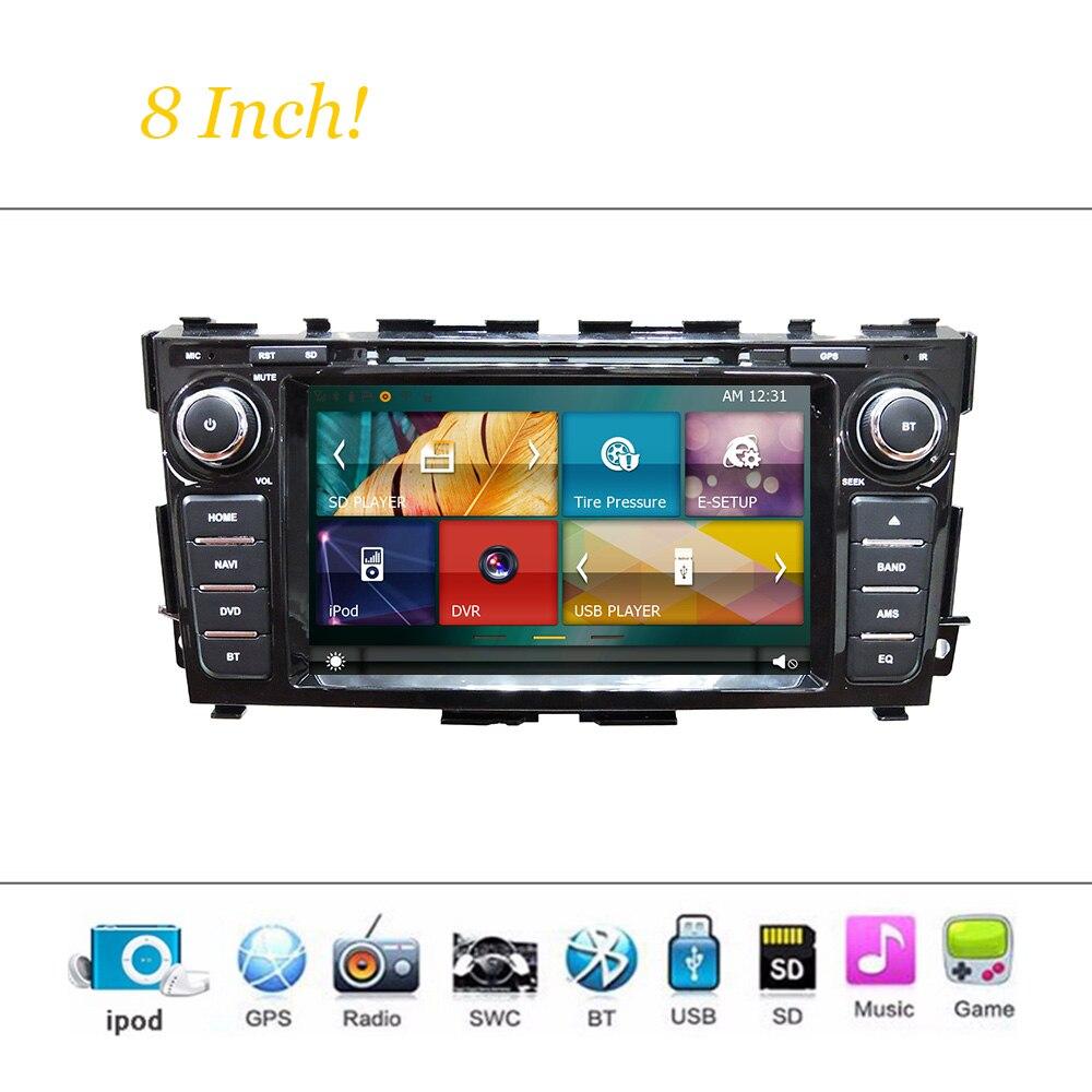 Wince Sistema de coches Reproductor de DVD Para Nissan Teana 2013-2015 Autoradio