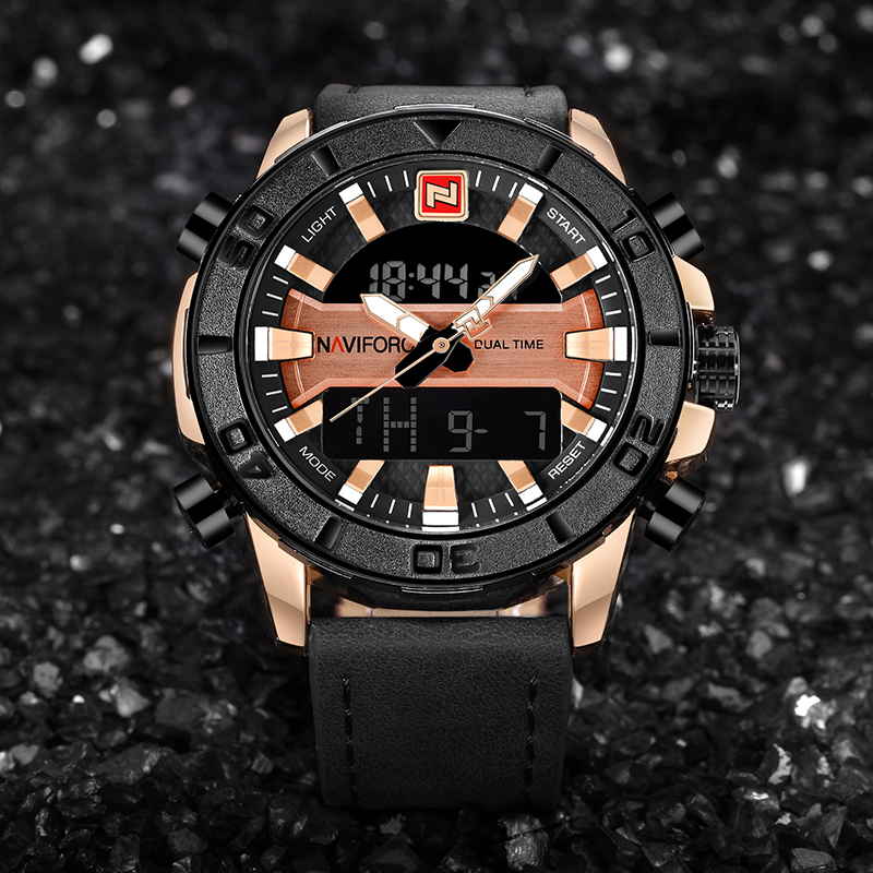 NAVIFORCE Sports Watch Analog Digital Dual-Time 1