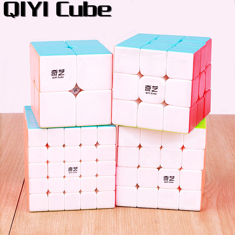 QIYI warrior 3x3x3 4x4x4 5x5x5 Magic Cubes Children Toys Speed Puzzles Cube Learning sticker less Magico Toys pocket Cube 2x2x2