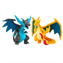 2pcs/lot Anime Pokeball Mega XY Charizard Plush Toys Evolution Soft Stuffed Doll for Children Kids Gifts