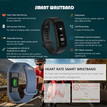 OLED Smart Wristband WaterProof Quick Recharge Fitness Tracker