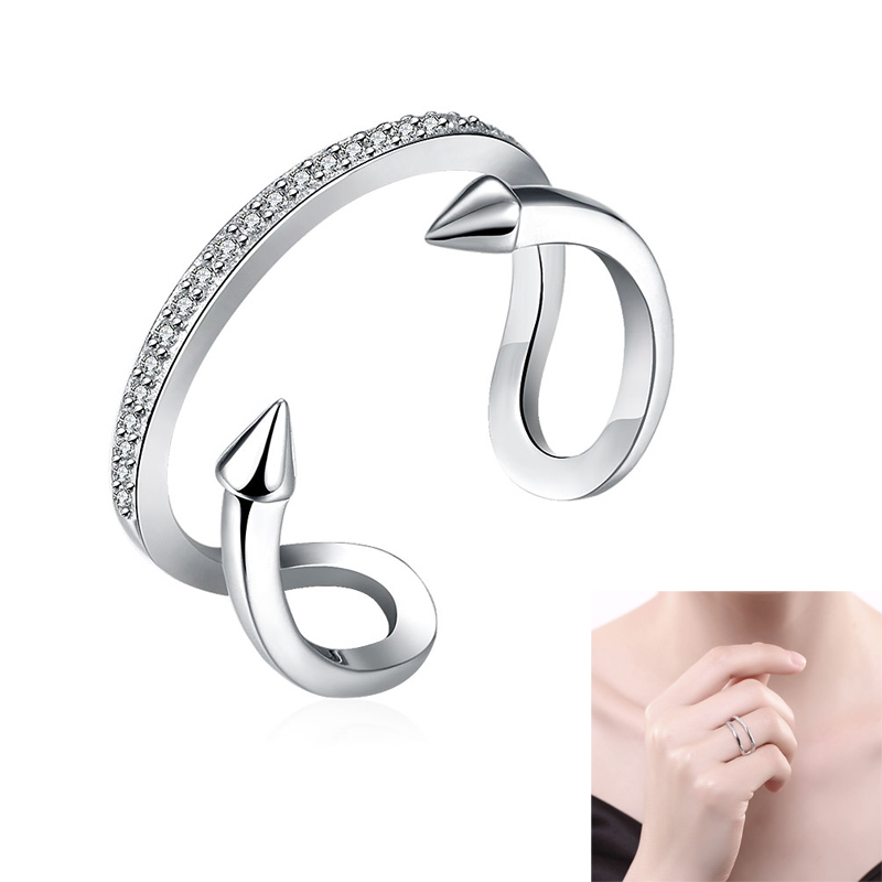 Fashion women engagement jewelry 925 sterling silver for Jewelry storm arrow ring