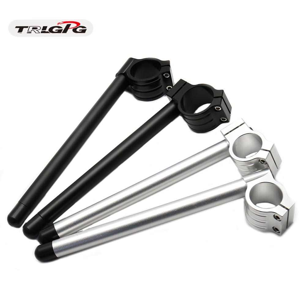 Cafe Racer Stang Sepeda Motor Racing Adjustable CNC 31/32/33/35/36/37//39/41/45/50/51 Mm Klip Pada Garpu Handle Bar