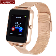 Twitter Podómetro reloj inteligente para android soporte telefónico bluetooth reloj inteligente mujeres de los hombres Relojes deportivos Reloj de Acero GT08