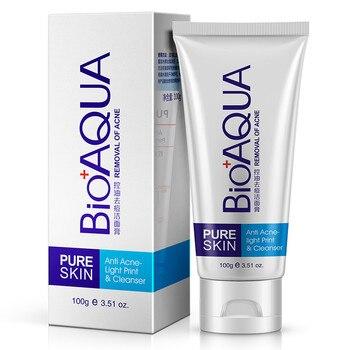 Bioaqua tratamiento Facial para el acné limpiador de cabeza negra elimina el control de aceite limpieza profunda poros de espuma retráctil 100g