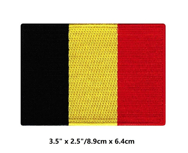 US $79 0  Belgium Flag Embroidered Patch Belgian Iron On National Emblem  NEW & CHEAP-in Patches from Home & Garden on Aliexpress com   Alibaba Group