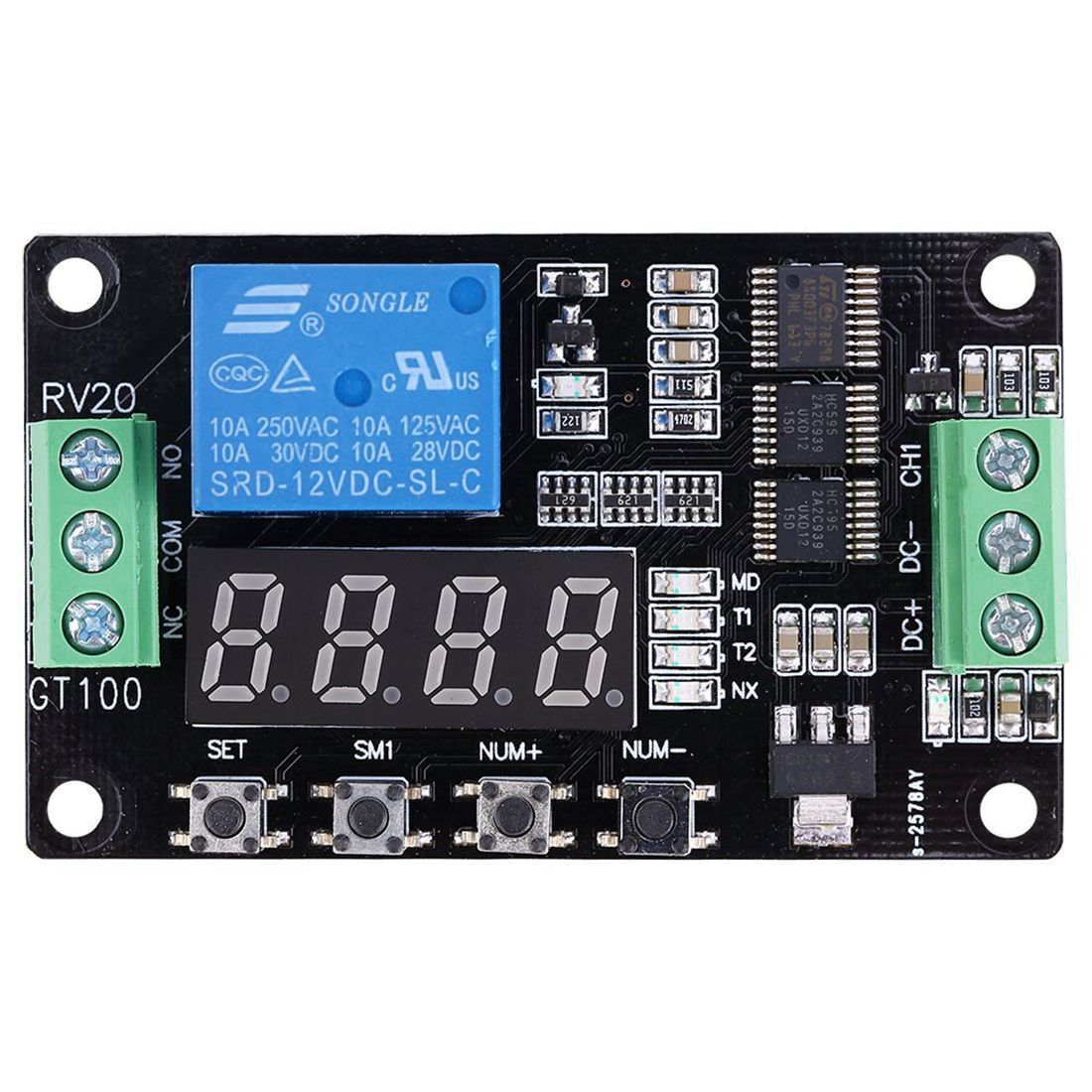 Multifunction Relay Cycle Timer Module,Self-lock Relay PLC Cycle Timer Module Switch Board Power Switch Home Automation Delay 12v led display digital programmable timer timing relay switch module stable performance self lock board