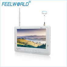 FPV718W 7 Inch IPS FPV Monitor 1024×600 Dual 5.8G 32CH Diversity Receiver Feelworld Wireless 7inch LCD Monitors White