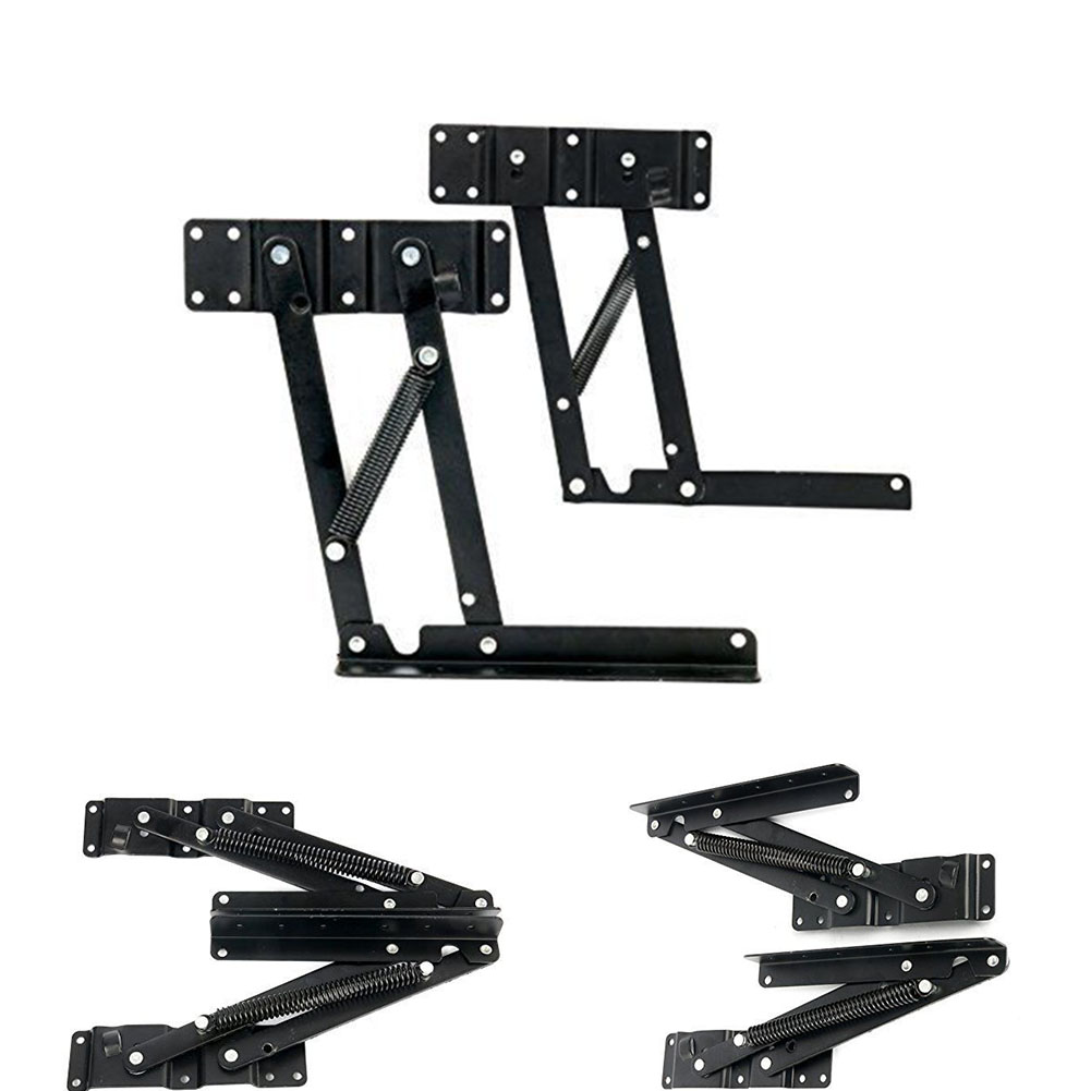 Image 3 - NEW HOT SALES Lift Up Top Coffee Table Hardware Fitting Furniture Mechanism Spring Hinge Tea Table Bracket-in Furniture Frames from Furniture